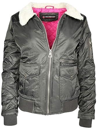 39dafdeac Urban Republic Women's Bomber Jacket with Warm Fur Collar