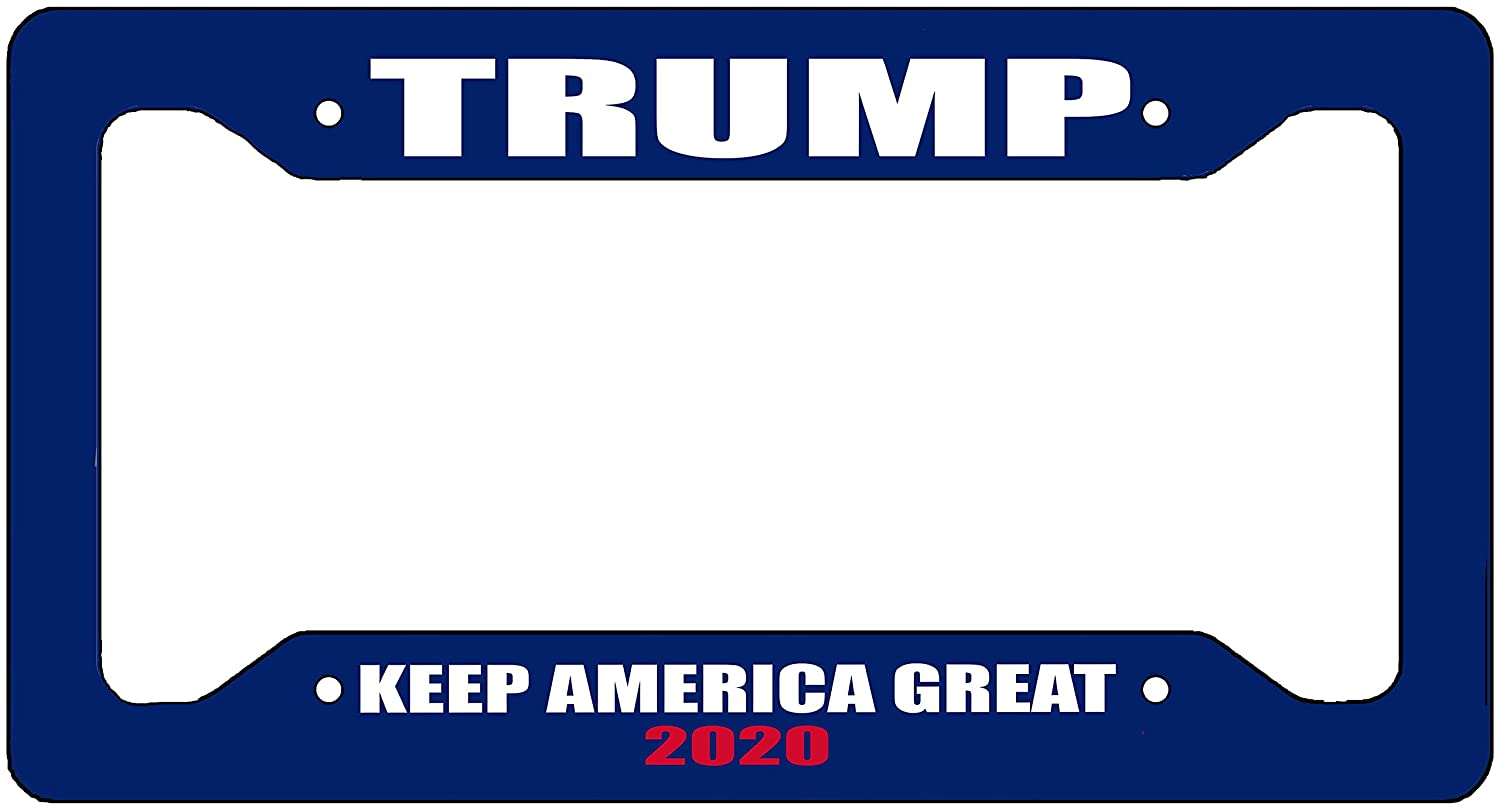 Rogue River Tactical Donald Trump License Plate Frame MAGA Republican Conservative Novelty Tag Vanity Gift Keep America Great Blue VV256