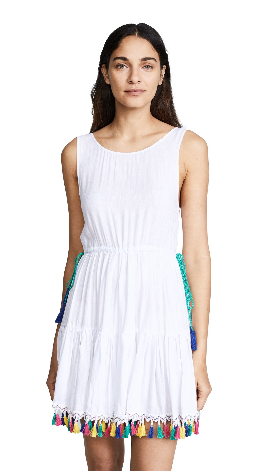Nanette Lepore Women's Fiesta Covers Short Dress Coverup, White, Small