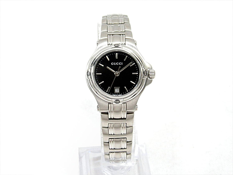 c94d1d3af163 Amazon | [グッチ] GUCCI 9045 腕時計 ウォッチ ブラック ステンレススチール(SS) YA090506 [中古] |  並行輸入品・逆輸入品・中古品(レディース) | 腕時計 通販