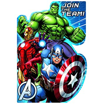 Amazon.com: Marvel Avengers Assemble invitaciones para ...