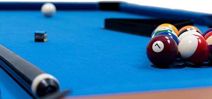 MASGAMES | Billar Masgames Deluxe 6ft | billar más pequeño 183 cm (largo) x 91 cm (ancho) x 79 cm (alto) (Medidas exteriores) | Con retorno de bolas | patas ...