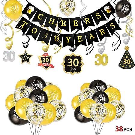 30 Cumpleaños Saludos a 30 Años Banner Y Colgantes Remolino ...