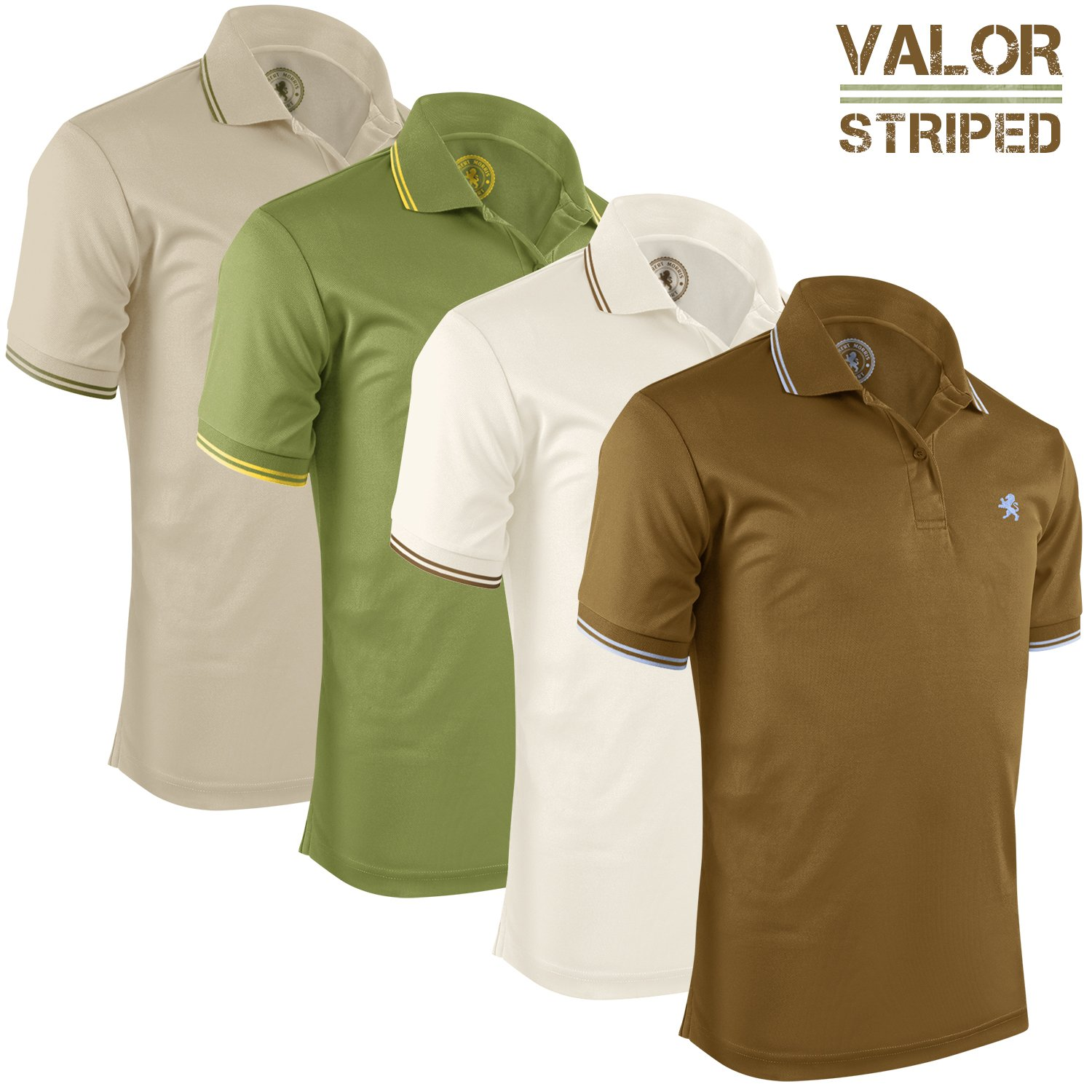 135757a231788 Galleon - Albert Morris Mens Short Sleeve Polo Shirts 4 Pack ...