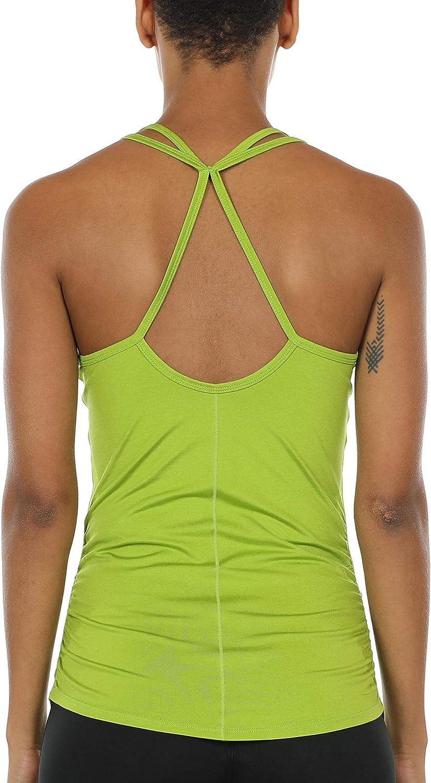 icyzone Camisetas sin Mangas de Espalda Abierta para Mujer Fitness Camiseta Tops