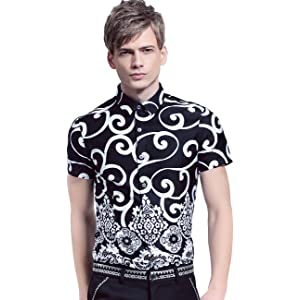 FANZHUAN Men Fashion Shorts Sleeve Shirts Fitted for Men Short ...