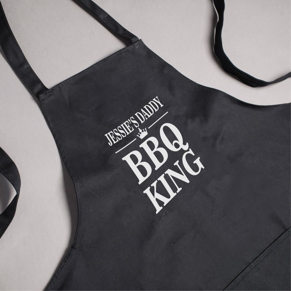Personalised - Black BBQ KING Apron