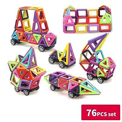 zhenghewyh Jouets Magnétiques Construction éducatifs Cadeaux pour Enfants (76 PCS)