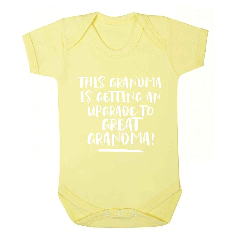 Flox Creative Baby Vest Grandma Upgraded Great Grandma