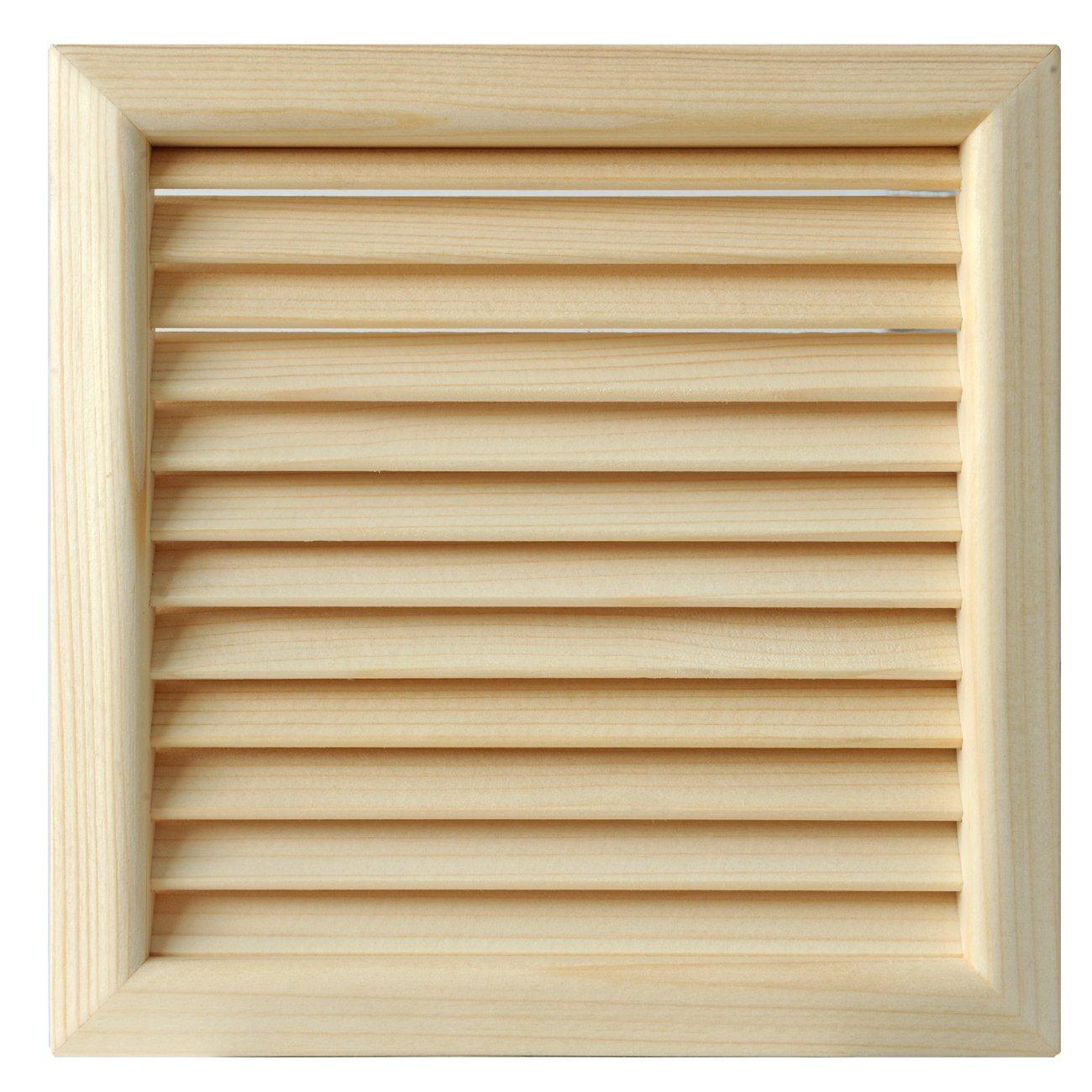 La ventilaci/ón lges160p-y Rejilla Madera Quadra de integrado, pino rojo, 172/x 172/mm