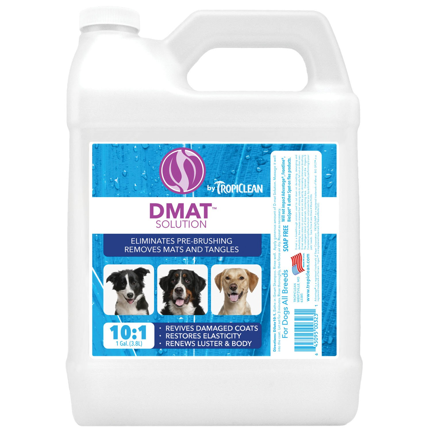 TropiClean Dog and Cat D-Mat Solution 1-Gallon
