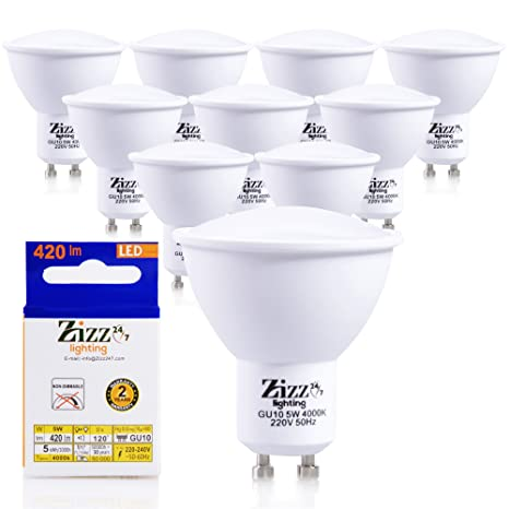 Bombillas de bajo consumo LED, 5 W, GU10, sustituto para focos halógenos de 50 W, ...