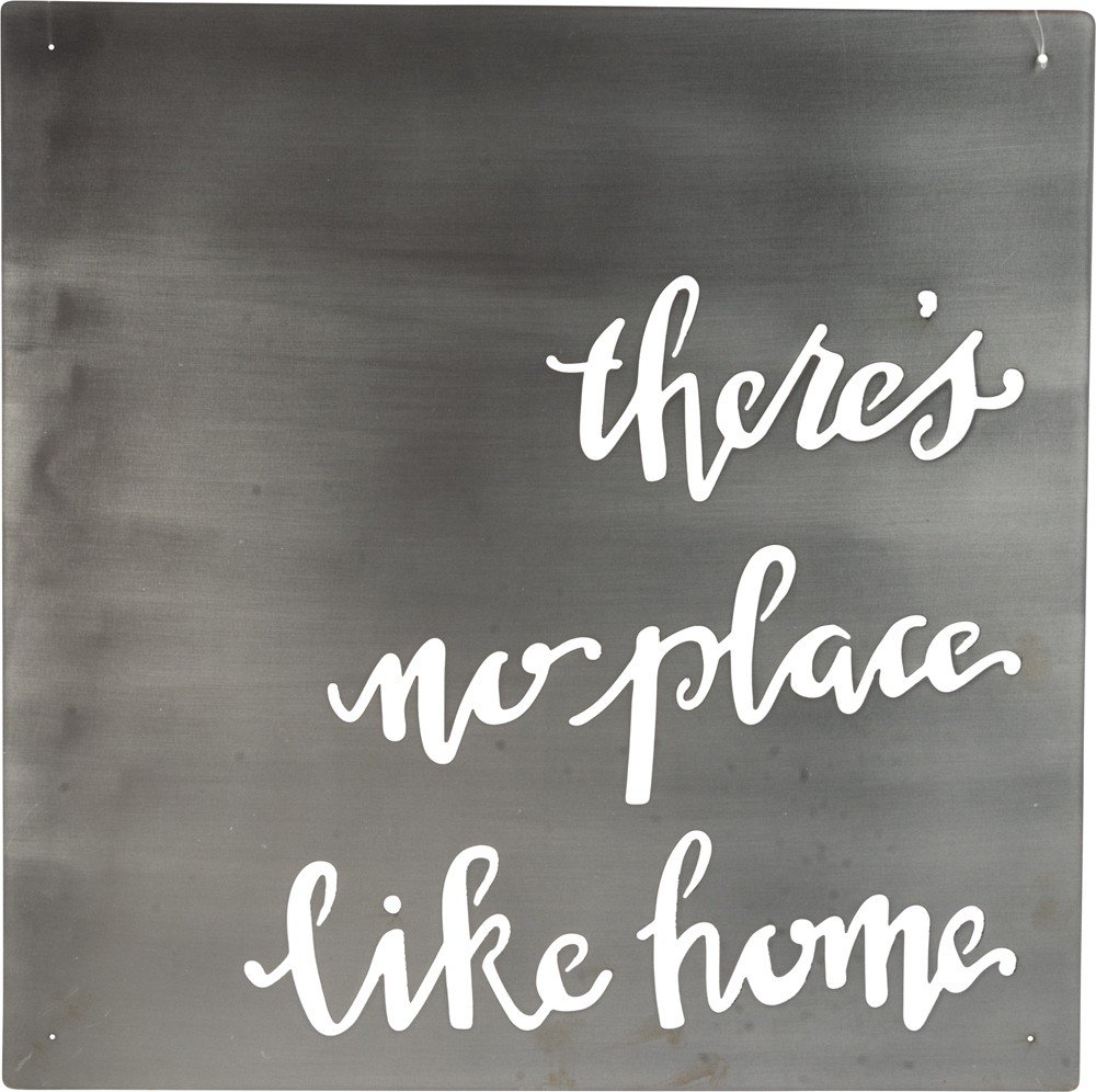 Primitives by Kathy Precision Cut Metal Word Art Sign, No Place Like Home