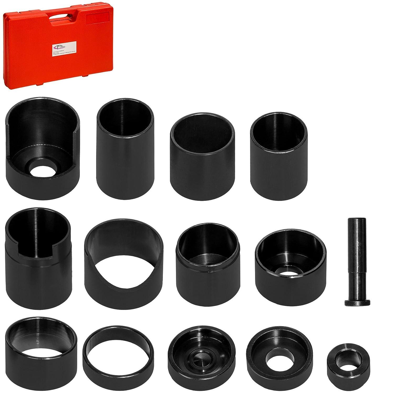 TecTake Set di attrezzi montaggio smontaggio dei cuscinetti a sfera boccole 14 pezzi con valigetta