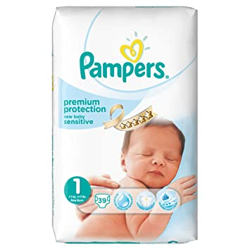 Ancienne Version Pampers New Baby Sensitive 39 Couches 2 5 Kg