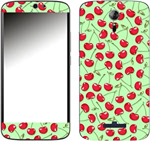 'Disagu 107423 SF-650P SF 1078 Cherry Design Green Design Skin Cover for Acer Liquid Zest Plus