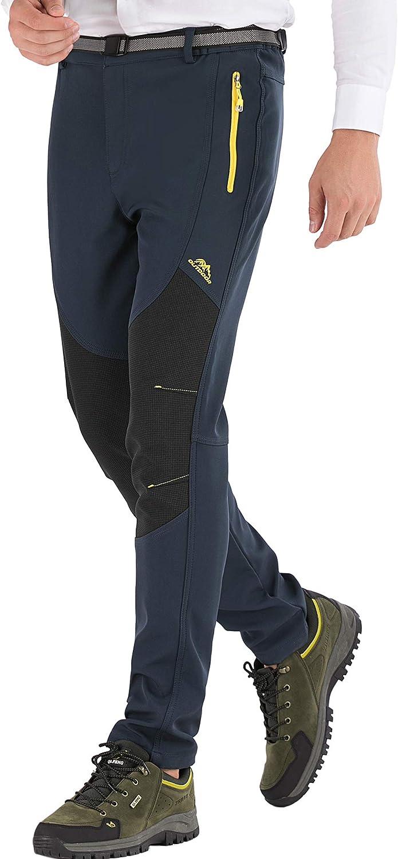 DAFENP Pantalon Ski Randonnee Femme Imperm/éable Hiver Pantalon Montagne Softshell Chaud Doubl/é Polaire Outdoor