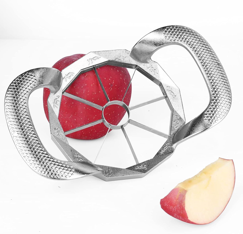 2021 UPGRADED &REINFORCED Apple Slicer, 8-Blade Apple Corer: Cutter Easy to Use, Ultra-Sharp Stainless Steel Apple Divider TREBLEWIND
