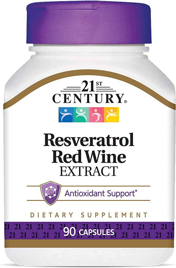Amazon Com 21st Century Resveratrol Red Wine Extract Capsules 90count Health Personal Care