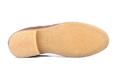 Manuel Medrano Zapatos de Piel Serraje Para Hombre, Mod.6013, Calzado Made In Spain Garantía de Calidad. (43, Azul Marino)