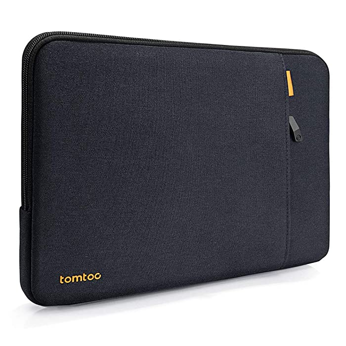 tomtoc 360° Protective Sleeve Compatible with 15 Inch MacBook Pro Touch Bar A1990 A1707 / 14 Inch ThinkPad Chromebook, Notebook Shockproof Case Tablet Accessory Pocket & CornerArmor