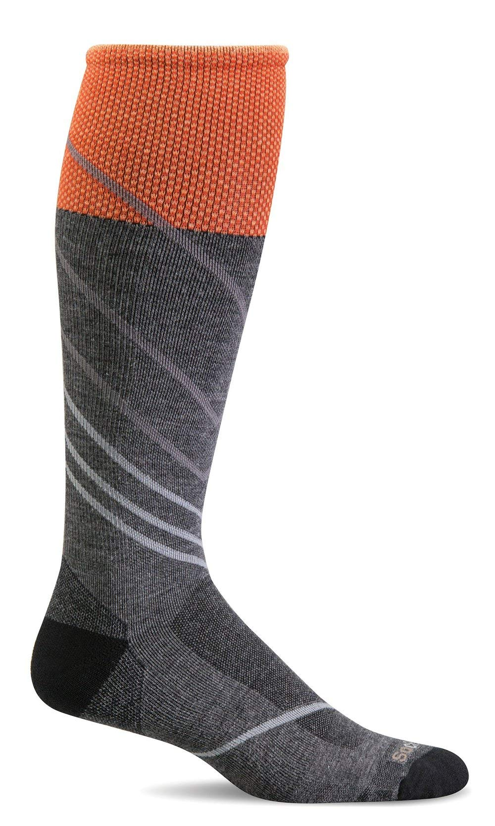Sockwell Men's Pulse Firm Graduated Compression Sock, Charcoal - Medium/Large by Sockwell