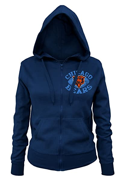 34d86191d Amazon.com   NFL Chicago Bears Ladies Zipped Hooded Fleece