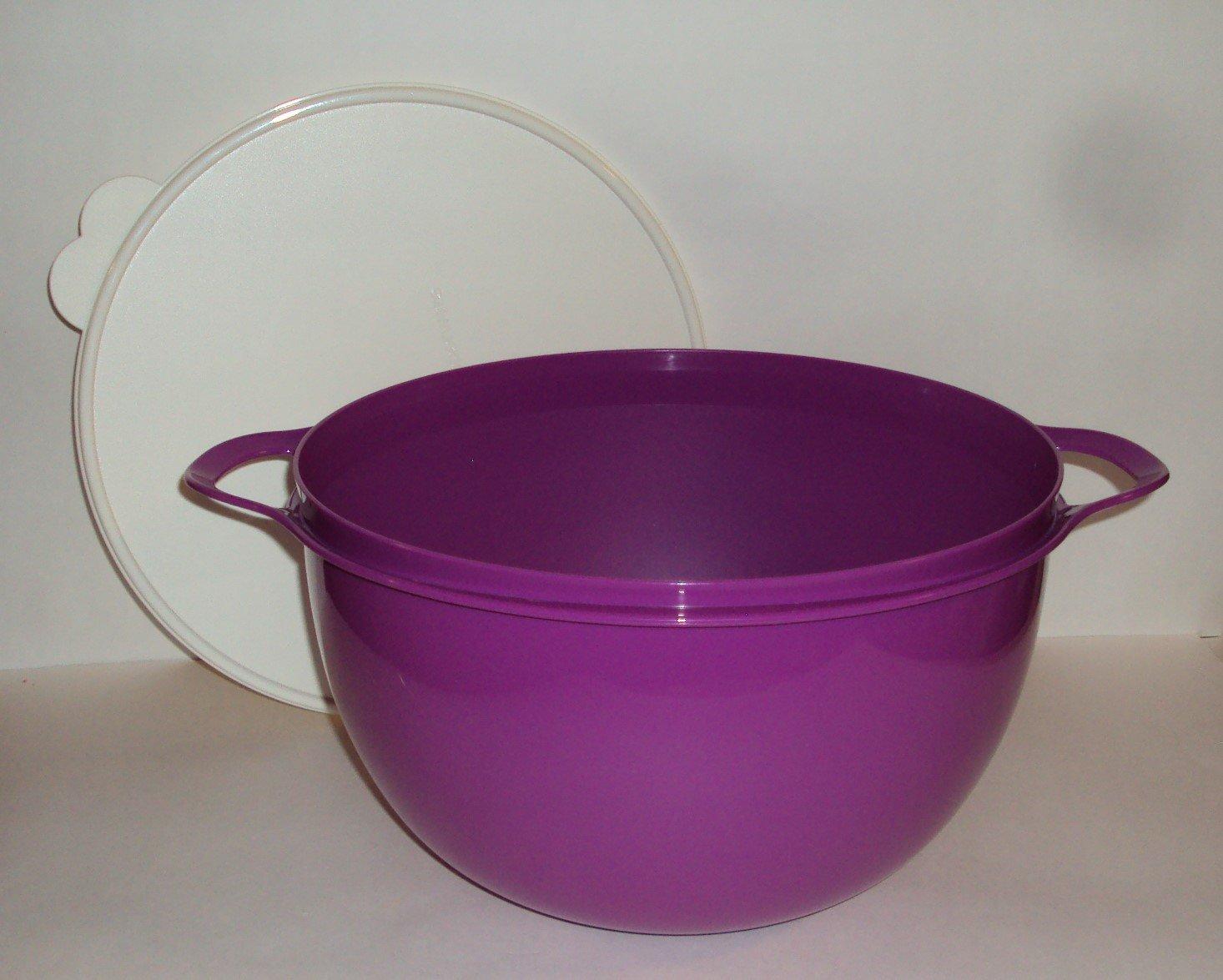 Tupperware 42 Cup Thatsa Bowl With Lid Purple