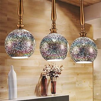 3D Led Las lámparas colgantes de cristal para Comedor Cocina ...