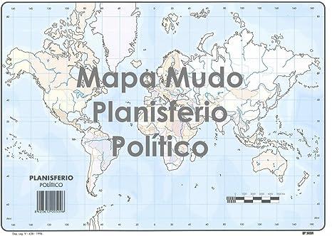 Mapa Mudo SELVI Color Din-A4 Planisferio Político, Caja x50: Amazon.es: Oficina y papelería