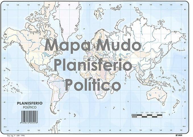 Mapa Mudo SELVI Color Din-A4 Oceanía Político, Caja x50: Amazon.es: Oficina y papelería