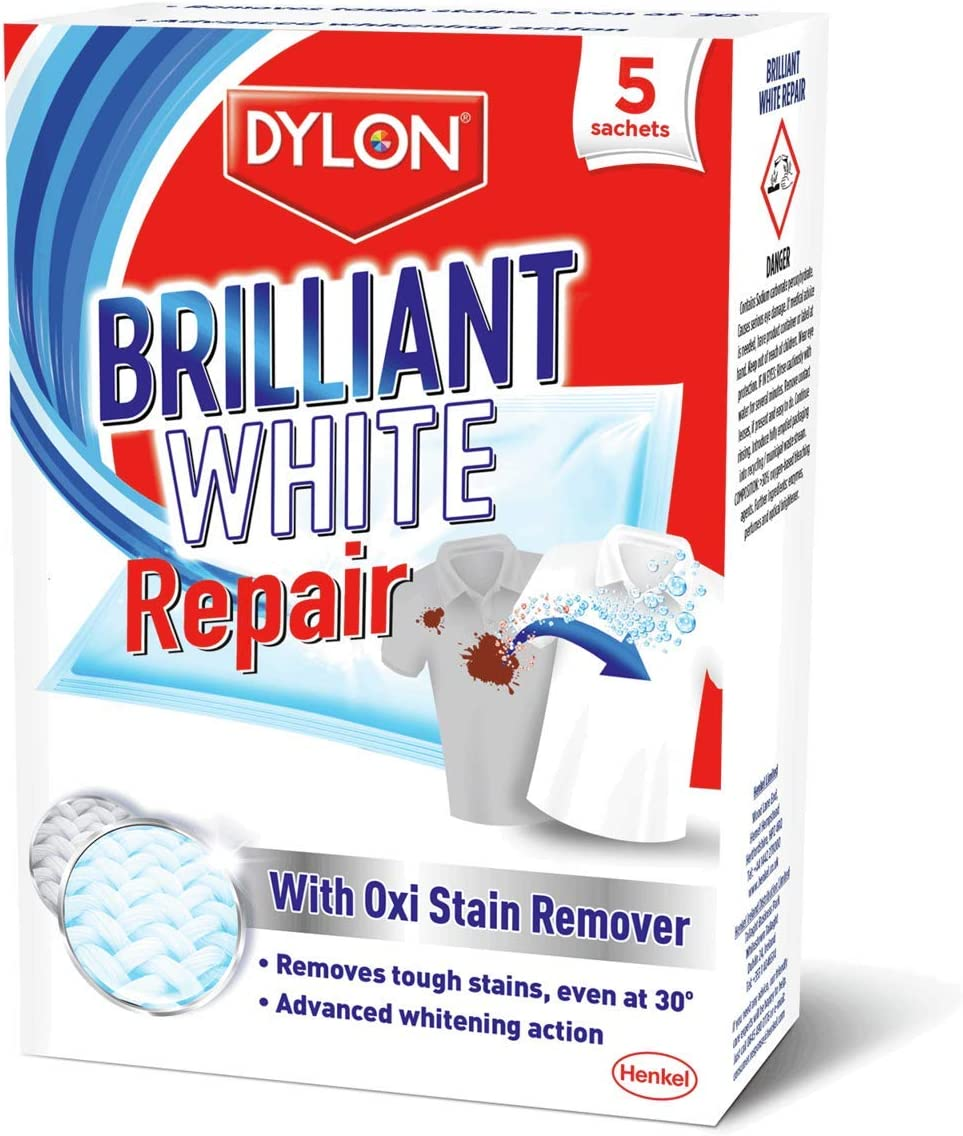 Dylon Brilliant White /& Bright Pack of 7 Whitening Sheets