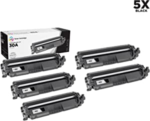 LD Compatible Toner Cartridge Replacement for HP 30A CF230A (Black, 5-Pack)