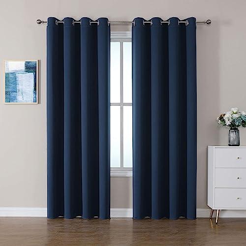 CUCRAF Blackout Room Darkening Grommet Window Curtains