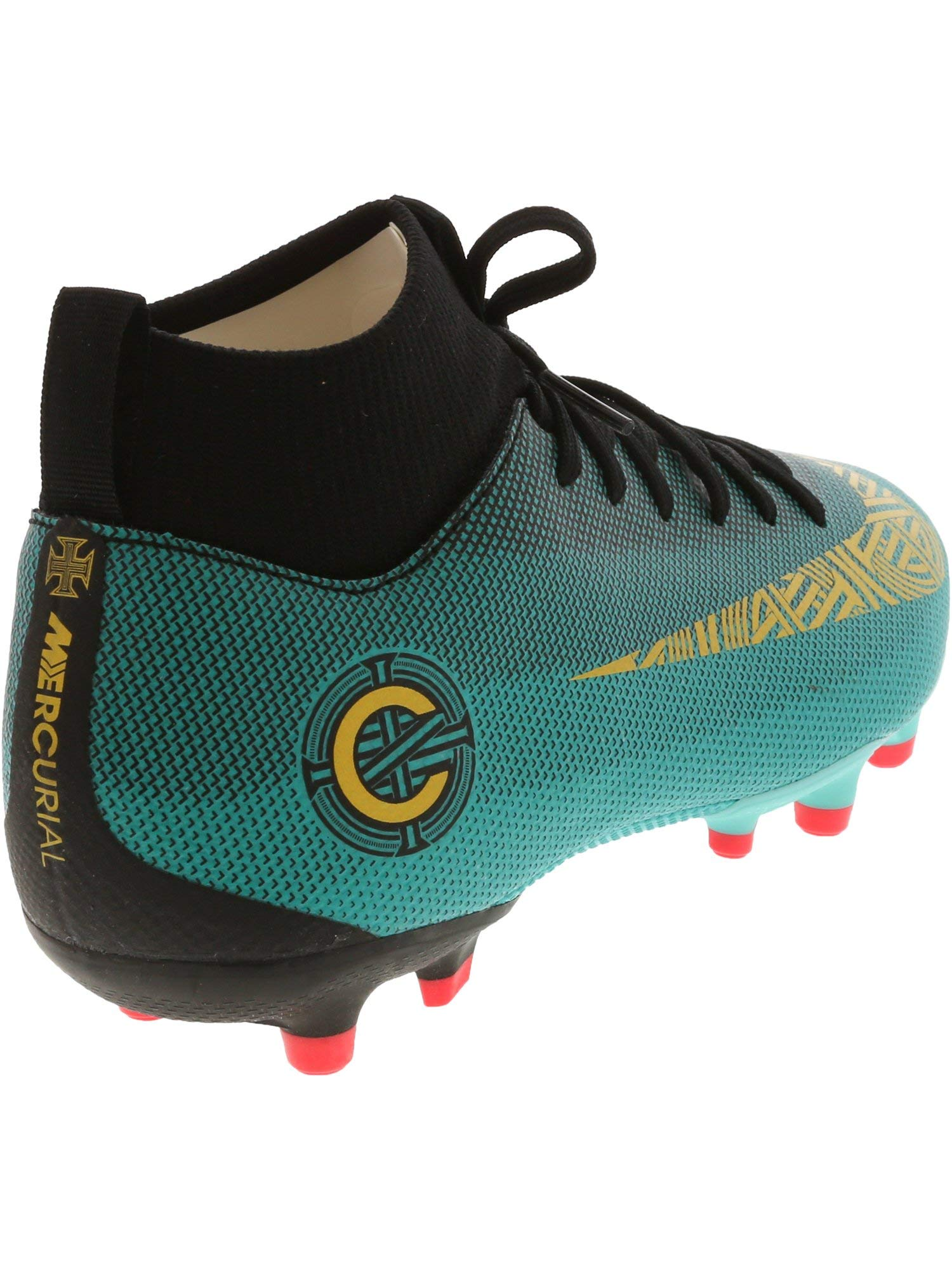 9913263ec Nike Superfly 6 Academy Gs Cr7 Clear Jade Metallic Vivid Gold Ankle-High  Soccer Shoe - 4M