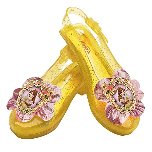 04eb4a3b03ea Amazon.com  Disney Princess Beauty and The Beast Belle Sparkle Shoes One  Size Child  Toys   Games