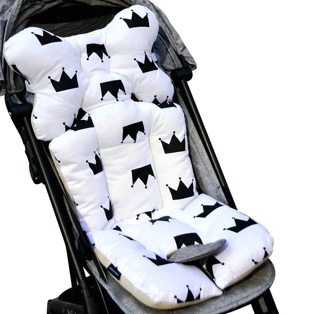 souart/™ Universal Kinderwagen Sitzauflage Baumwolle Wasserdichte atmungsaktiv Sitzeinlage f/ür Baby Kinderwagen Buggy 35x78 cm