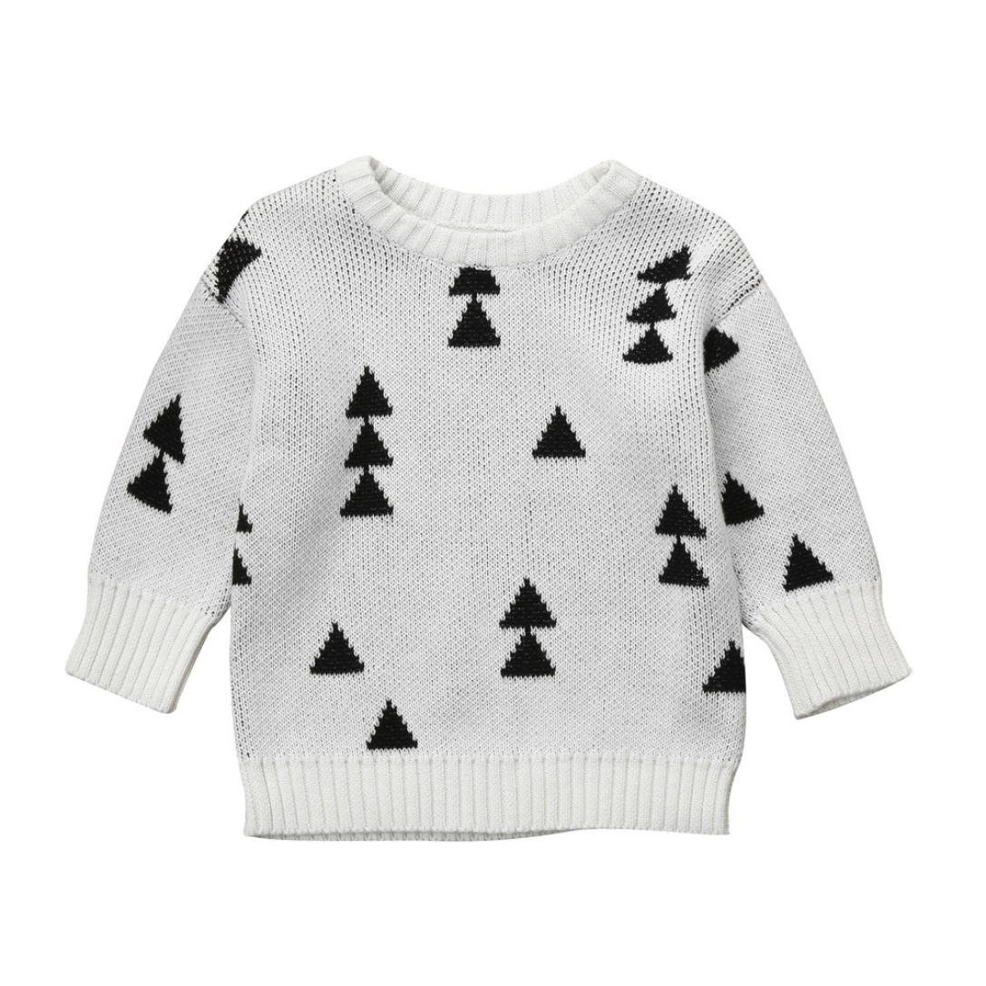 ChainSee Baby Pullover Sweater Cardigan Coat, Girls Christmas Tree Knit Tops