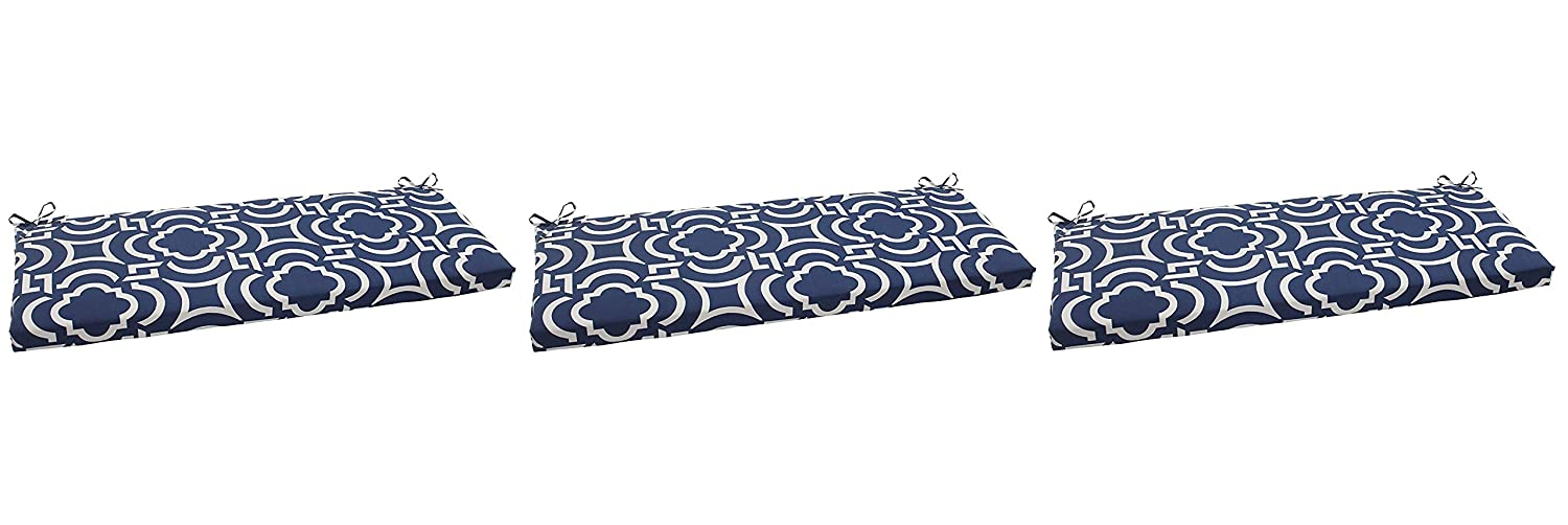 Pillow Perfect Indoor//Outdoor Carmody Bench Cushion Navy Pack of 2