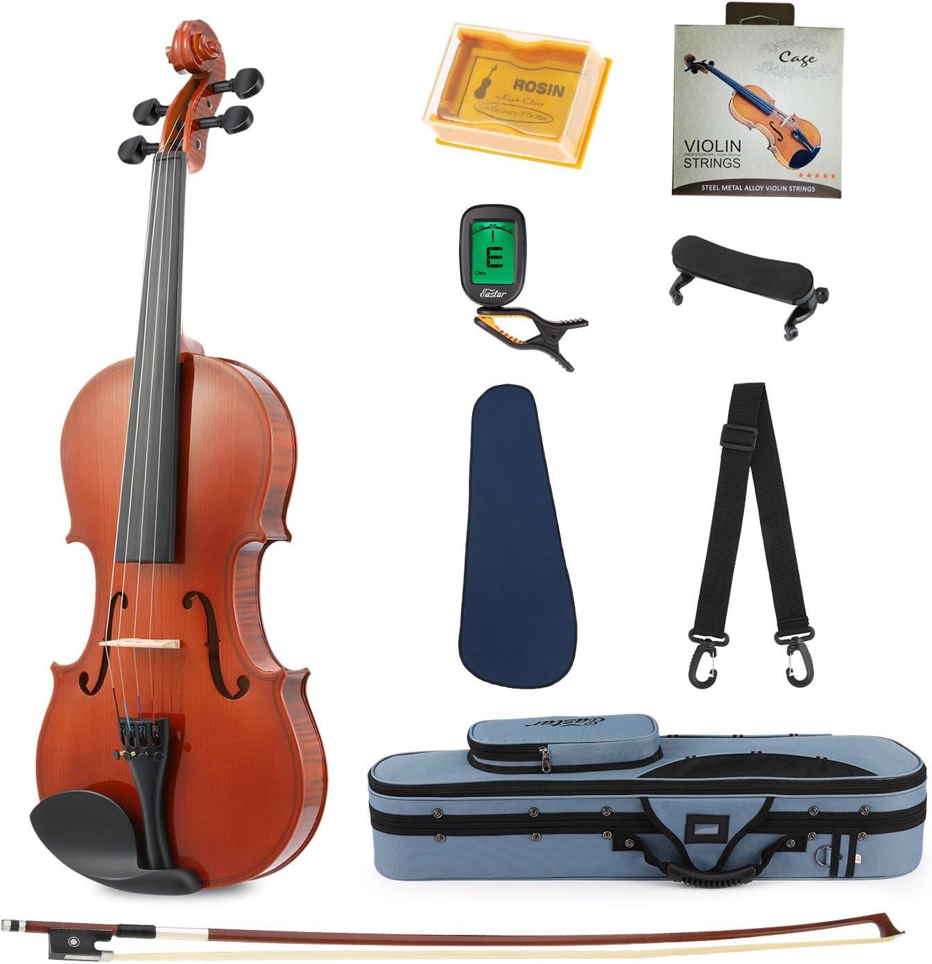 Eastar EVA-1 Full-Size 4/4 Violin Set For Beginner Student with Hard...