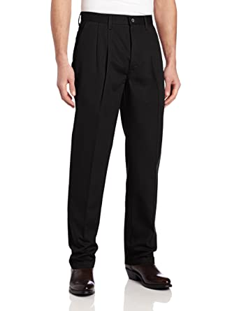 f313c657 Wrangler Men's Tall Size Big & Tall Riata Pleated Front Casual Pant, Black  32x38
