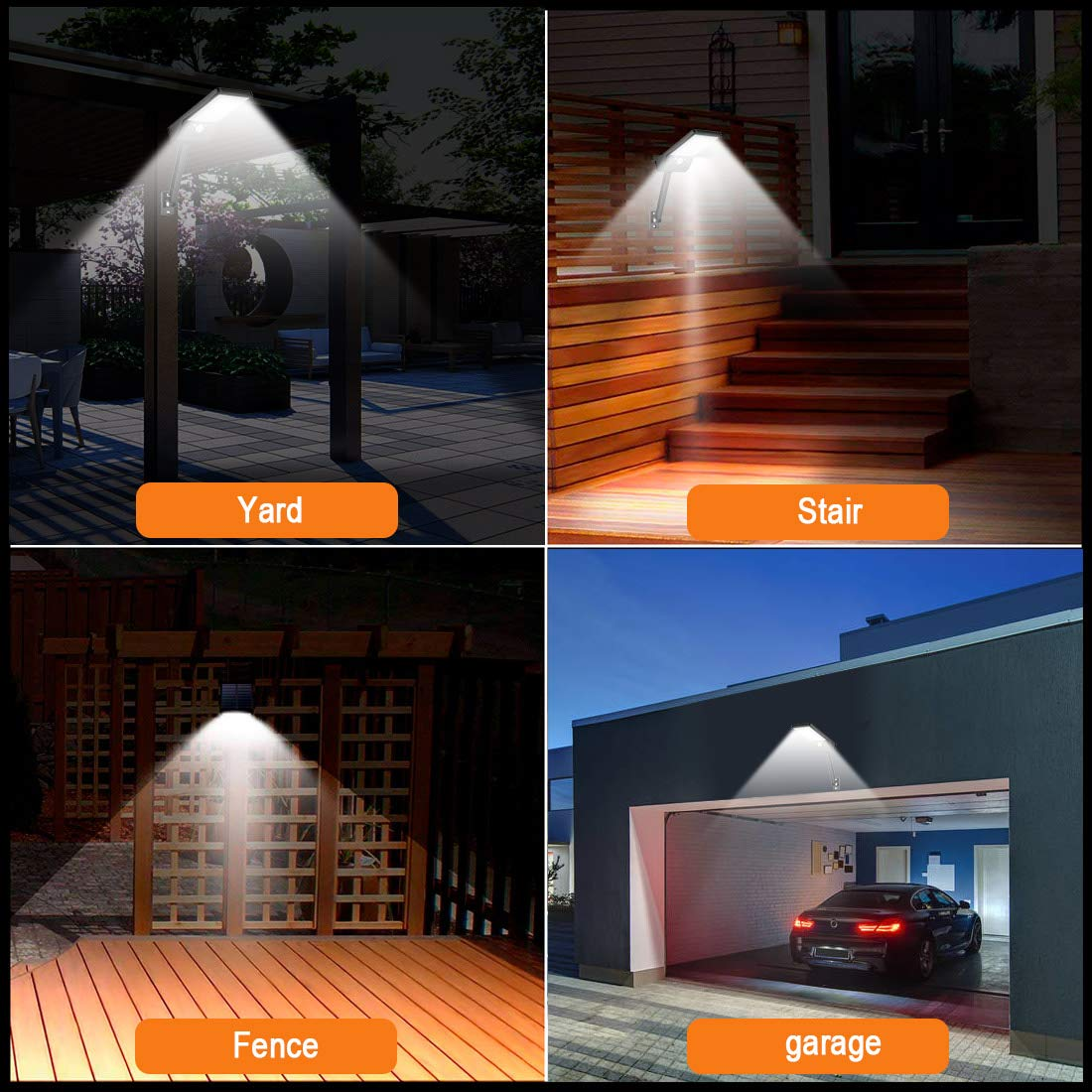 MODAR Solar Light Outdoor,48 LED Motion Sensor with Remote Control 3 Lighting Modes, IP65 Waterproof Ideal for Garden, Garage, Driveway 1 Pack