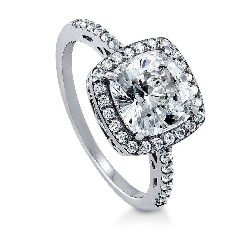 086b387ee967f BERRICLE Rhodium Plated Sterling Silver Cushion Cut Cubic Zirconia ...