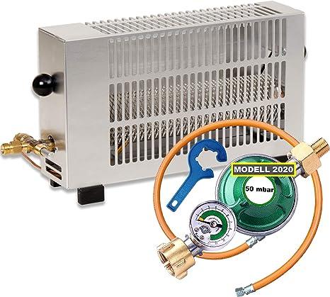 Tienda calentador Estufa de gas – Calefacción para camping (1,7 Kw regulable m. Seguro