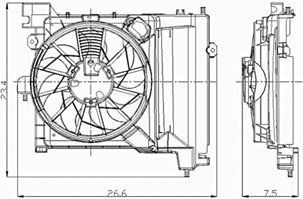 Crash partes Plus ventilador de condensador para Chrysler Aspen ...