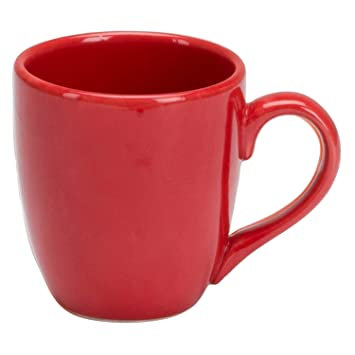 Amazon.com | Omniware Rio 14 oz Mug - Red: Coffee Cups & Mugs
