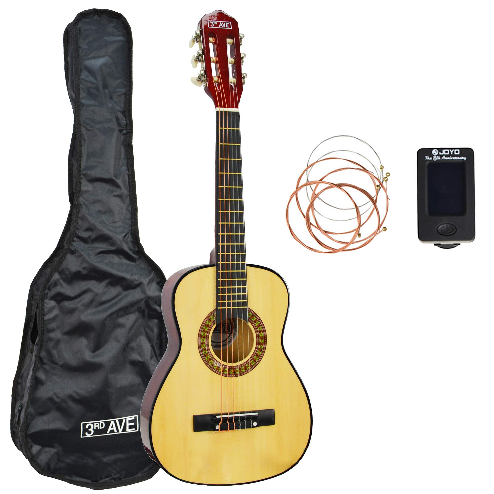 3rd Avenue Classical 1/4 Size Guitar Starter Pack - Natural