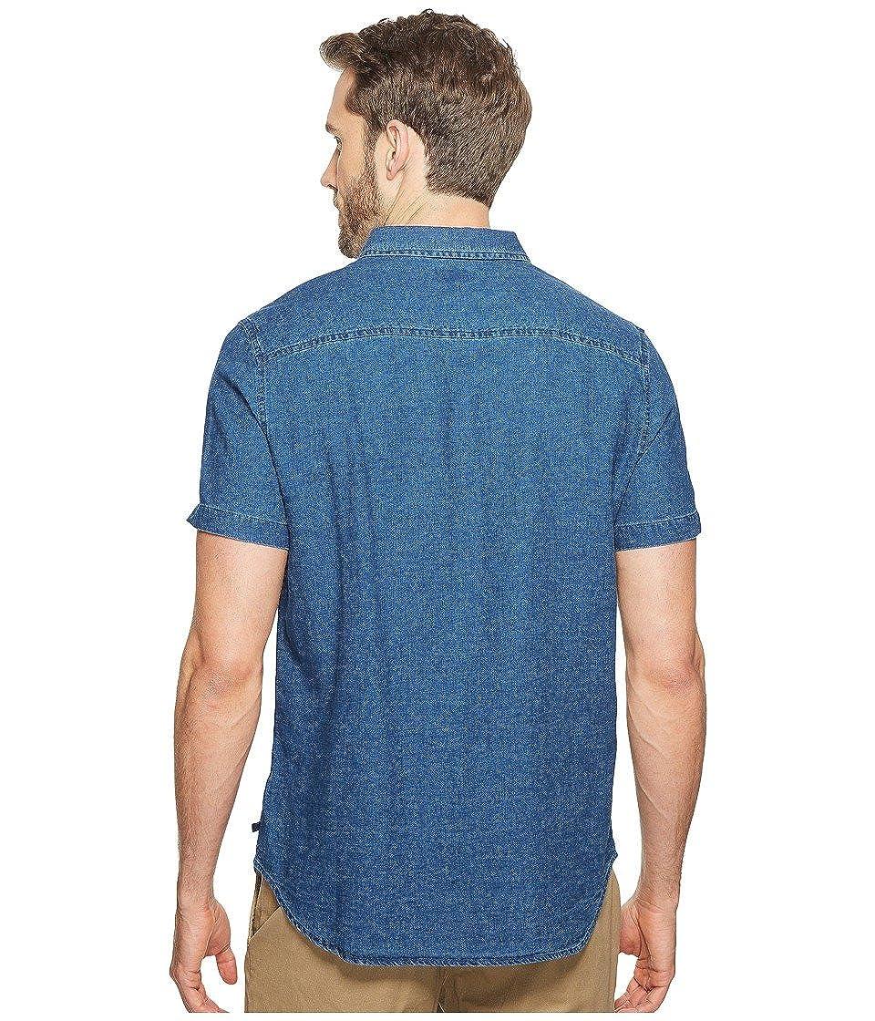 AG Adriano Goldschmied Mens Nash Short Sleeve Shirt Fender Button-up Shirt