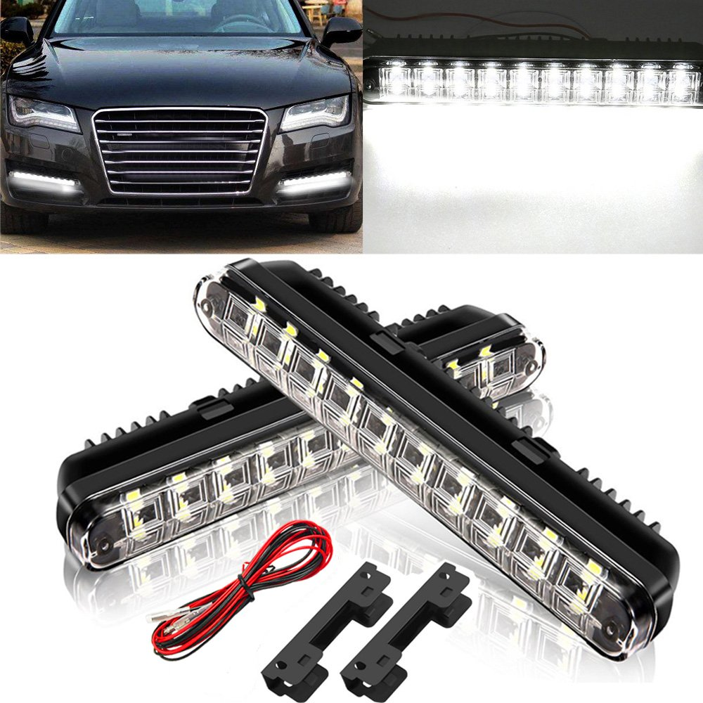 AMBOTHER 2x 20 SMD 5050 LED Daytime Running Lights DRL Lamps 4 W Meiyiiel_DE