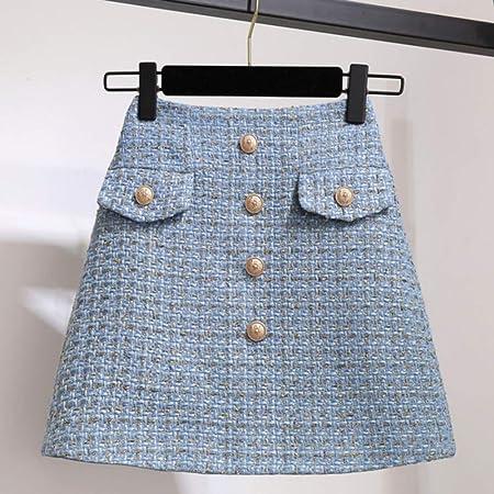 QZBTU Faldas Mujer Falda Mini Falda A Cuadros De Cintura Alta para ...